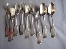 9 Besteckteile  aus ca.1762 Paris Silber