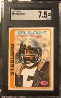 1978 Topps #475 Mel Blount SGC 7.5 Near-Mint Condition Pittsburgh Steelers HOF
