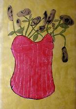 Anja Luithle, Siebdruck auf Tapete, 1994, handsigniert, Auflage 50 Ex. signiert