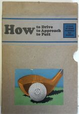 1922 Wilson Library How To Drive, To Approach, To Putt
