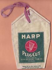 Vintage TOBACCO HARP PLUG CUT BAG John Weisert St Louis Beautiful Condition !!!!