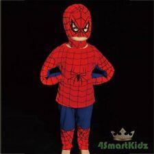3 Pcs Spiderman Superhero Fancy Party Costume Mask Halloween Kid Boy Size 4 #005