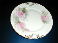 Z S & Co Zeh Scherzer Bavaria Pink Rose Dinner Plate - Artist Signed