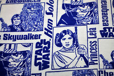 NEW Fabric Star Wars Heroes White Flannelette Cotton HALF METRE x 112cm Material