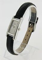 ATTACHE Damen-Uhr  Armbanduhr Handaufzug 585er Weiß-Gold Brillanten Diamanten