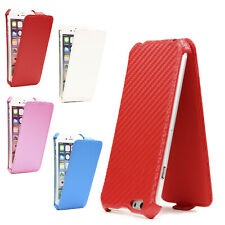 Urcover®  Mobile Protect Cover Case Flip Case Carbon Style Glas Film