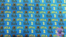 NCAA University of California Los Angeles UCLA Bruins Cotton Twill Fabric Yard