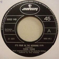 "Faron Young(7"" Vinyl)It's Four In The Morning-Mercury-6052 140-UK-1972-Ex/NM"