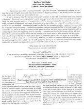 """General Harry W. O. Kinnard typescript - """"Nuts"""" - Battle of the Bulge"""