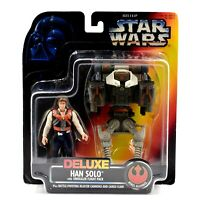 Star Wars Power of The Force (Red) - Deluxe Han Solo with Smuggler Flight Pack