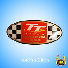 Isle of Man TT Road Racing Capital of the World Oval Gel Badge Sticker