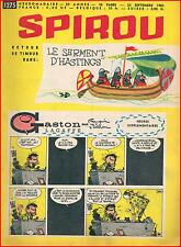 ▬► Spirou Hebdo N° 1275 du 20 Septembre 1962