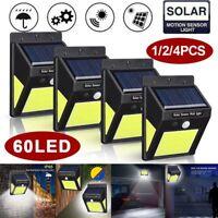 Waterproof 60LED COB Solar Light Motion Sensor Night Security Outdoor Light Lamp