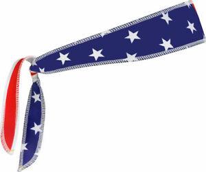 Halo I Tie Headband: USA Flag