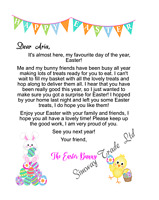 Personalised Letter from Easter Bunny Certificate Novelty Easter Gifts Kids
