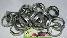 28 Ball Mason Jar Silver Canning Rings, Regular Mouth / Bands Only NEW