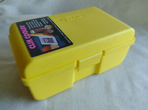 Vintage Yellow Clik Cooler Insulated Mini Cooler Made In USA 1993