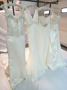 4 x Ellis wedding dress bundle various styles white & ivory new with tags UK8