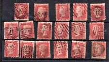 GB QV 1d Penny Red Stars used collection WS17470