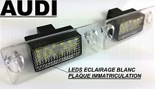 LEDS LED ECLAIRAGE BLANC XENON PLAQUE IMMATRICULATION AUDI A4 B5 1994-01 S4 RS4