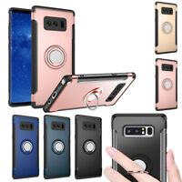 360 Rotating Metal Ring Grip Holder Stand Case For Samsung Galaxy Note 8
