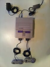 Super Nintendo SNES System Console With 2 Controllers + power adapter + coaxial