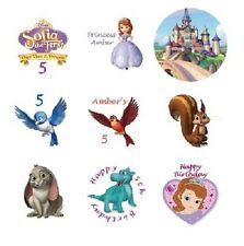 108 Disney Sofia the First Hershey Kiss Labels Stickers Birthday Personalized