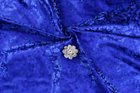"1/2 YD X 28""ORIENTAL SILK DAMASK JACQUARD BROCADE FABRIC: CHINA DRAGON BLUR BLUE"