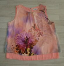 WALLIS PETITE size 16 floral PINK purple neon OPEN BACK summer top