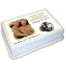Wedding Anniversary A4 Edible Icing Cake Topper