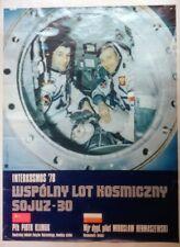 Interkosmos Intercosmos 78 Sojuz Soyuz 30 POSTER USSR Soviet Union Space Program