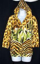 Zenergy Chicos Animal Print Hoodie Jacket 1 Yellow Brown Giraffe Zebra Zip