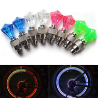 2X LED Ventilkappen Speichenlicht for Fahrräder Bike Autos Fahrrad Ventil Le/DE