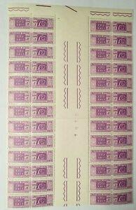Paketmarke - Briefmarke - Italien / Kleinbogen mit Druckvermerk MiNr.90 (EP_06)
