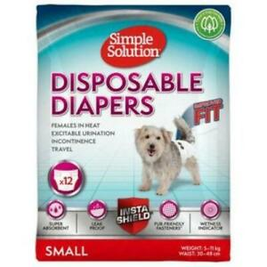 Simple Solution Dog Diaper Disposable Nappy Pants incontinence females in heat