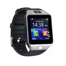 Smart Watch with Camera, Sim Card & Memory Card Slot - Silver