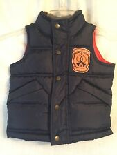 Baby Gap Toddler Boys Puffier Vest Size 2T Navy Blue Zip/Snap front