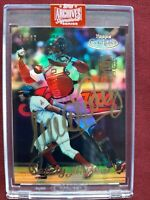 2019 TOPPS ARCHIVES SIGNATURE SERIES SANDY ALOMAR  AUTO (20/27) #58 GOLD LABEL