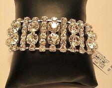 CEZANNE Rhinestone Crystal Statement Bracelet NEW w Tags Orig Price $48.00