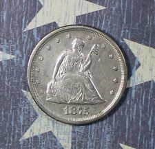 1875-S SEATED LIBERTY SILVER TWENTY CENT COLLECTOR COIN .FREE SHIPPING