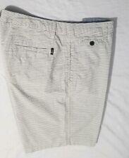 Howe No. 65 Creative Workforce Men's Size 34 Casual White Strip Shorts