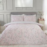 Etched Floral Bedding - Reversible Duvet Cover and Pillowcase Set