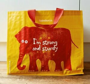 SAINSBURYS RELIABAG ELEPHANT REUSABLE LARGE SHOPPING BAG - BNWT (NEW)