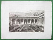 ARCHITECTURE PRINT : Italy Genoa Camposanto Monumentale Camp Santo