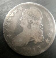 1813 Capped Bust Silver Half Dollar O O-109a Single Leaf Very Good VG or Fine F