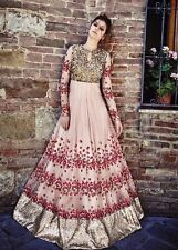 Vernäht Designer Anzug knöchellanger Anarkali indische Bollywood Salwar Kameez 48