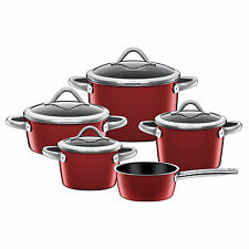 Silit Topf-Set 5-teilig Vitaliano Rosso Made in Germany induktionsgeeignet