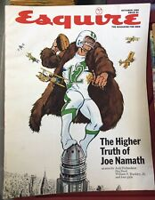 Vintage Esquire Magazine October 1969 The Higher Truth of Joe Namath Football