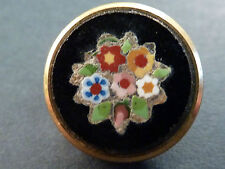SUPERB QUALITY MICROMOSAIC FLORAL DESIGN BUTTON