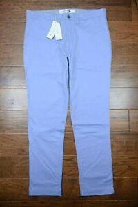 Lacoste HH9553 Men's Slim Fit Blue Stretch Cotton Chino Pants EU 50 W40 L32
